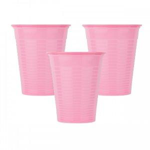 Οδοντιατρικά πλαστικά ποτηράκια μίας χρήσης Ροζ (100τμχ) - 132.001.P