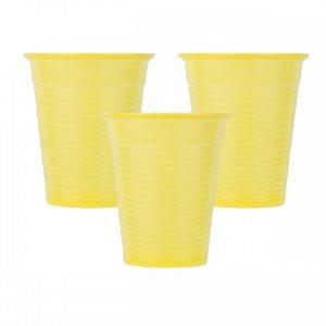 Οδοντιατρικά πλαστικά ποτηράκια μίας χρήσης Κίτρινο (100τμχ) - 132.001.Y