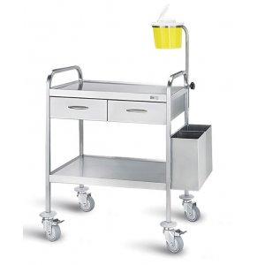 Τροχήλατο νοσηλείας, 50x70x85 cm - D-28