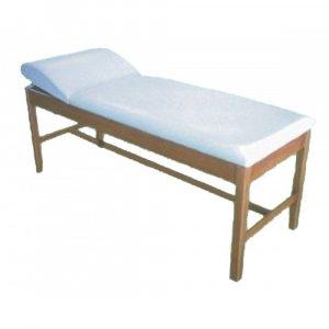 Εξεταστικό Κρεβάτι Ξύλινο Με Πομπέ Προσκέφαλο T1J Φυσικό Χρώμα Ξύλου