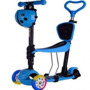 GC Σκούτερ Παιδικό SC22BL 5 σε 1 Μπλε ME LED ΦΩΤΑΚΙΑ - σε 12 άτοκες δόσεις