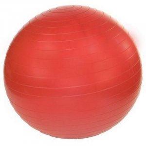 GYM BALL 55 CM ΚΟΚΚΙΝΗ ΜΕ ΤΡΟΜΠΑ (RAMOS) - σε 12 άτοκες δόσεις