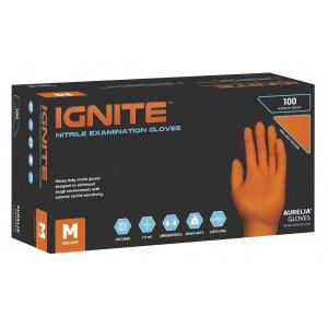 Γάντια νιτριλίου χωρίς πούδρα Πορτοκαλί Aurelia Ignite - 110.076 - 1000 τεμάχια
