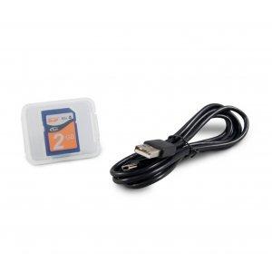 Κάρτα αποθήκευσης SD 2GB και καλώδιο USB CPAP APEX
