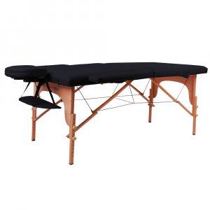 Κρεβάτι μασάζ inSPORTline (ΜΑΥΡΟ) Taisage ξύλινο - σε 12 άτοκες δόσεις