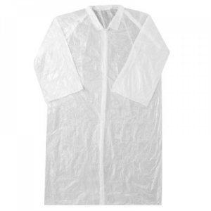 Ρόμπα επισκεπτών πλαστική με κουμπιά (Labcoat) (10 τμχ) - 121.005.PE.W