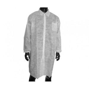 Ρόμπα επισκεπτών Non-Woven με κουμπιά (Labcoat) (10 τμχ) - 121.005.NW.W