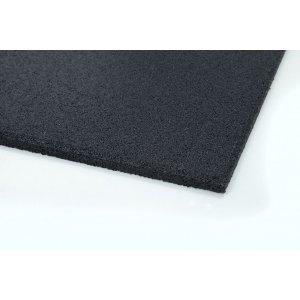 Λαστιχένιο πάτωμα, πλακάκι, λείο, 100x50cm, πάχους 20mm, μαύρο - 94453 - σε 12 άτοκες δόσεις