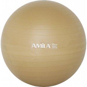 Μπάλα γυμναστικής AMILA GYMBALL 55cm Χρυσή - 95829 - σε 12 άτοκες δόσεις