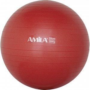 Μπάλα γυμναστικής AMILA GYMBALL 55cm Κόκκινη - 95828 - σε 12 άτοκες δόσεις