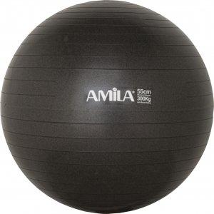 Μπάλα γυμναστικής AMILA GYMBALL 55cm Μαύρη - 95826 - σε 12 άτοκες δόσεις