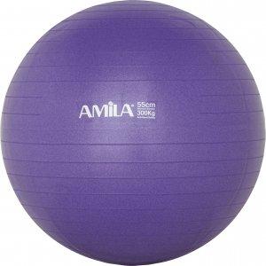 Μπάλα γυμναστικής AMILA GYMBALL 55cm Μωβ - 95830 - σε 12 άτοκες δόσεις