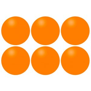 Μπαλάκια Ping Pong Πορτοκαλί (6 τεμάχια) 61PI