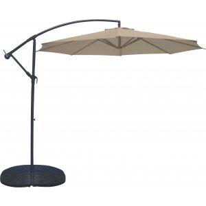 Ομπρέλα με Άνοιγμα 3m Κρεμαστή Μπεζ και Ιστό 2 Μερών - 12107