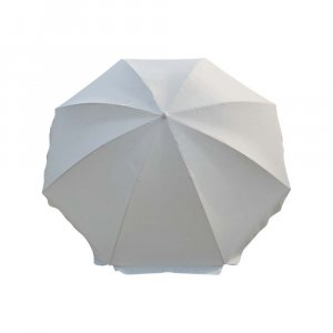 Ομπρέλα Παραλίας με Άνοιγμα 2m Λευκή Χωρίς Αεραγωγό με Ανάκλιση - 12045