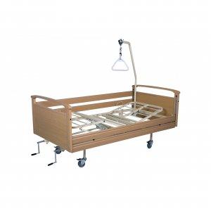 Νοσοκομειακό κρεβάτι ξύλινο χειροκίνητο πολύσπαστο με πλαϊνά Opus 6 - Σε 12 άτοκες δόσεις