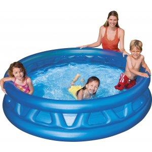 Πισίνα παιδική στρογγυλή, ανάγλυφη, μπλε - Διαστάσεις: 188x46cm - Ηλικία: 3+ 58431