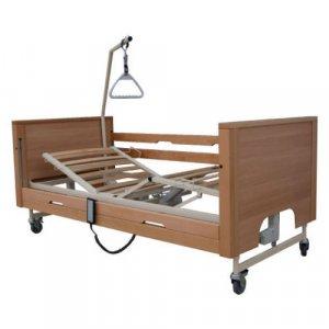Νοσοκομειακό Ηλεκτρικό Κρεβάτι Πολύσπαστο με Ξύλινο Σομιέ,πλαϊνά, αναρτήρα και ρόδες Prisma 4 - Σε 12 άτοκες δόσεις