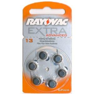 Μπαταρίες Ακουστικών Βαρηκοΐας 6τεμ. RAYOVAC 13MF