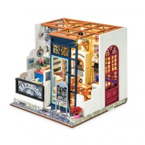 ROBOTIME DIY Nancy's Bake Shop DG143 Happy Corner DIY Miniature House - σε 12 άτοκες δόσεις