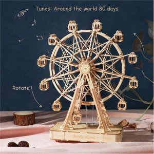 ROBOTIME Ferris Wheel TGN01 Huge Wooden Music Box - σε 12 άτοκες δόσεις