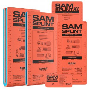 SAM SPLINT Σετ 5 τεμαχίων Εύπλαστων Ναρθήκων Ακινητοποίησης - sam-splint-set-5