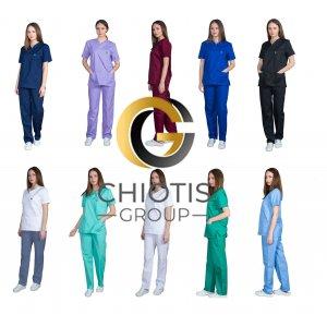 Ιατρική Στολή Μπλούζα - Παντελόνι (Σετ) Unisex