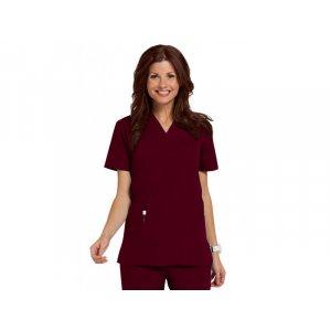 """Σετ Unisex Νοσηλευτικό Μπλουζάκι με Λαιμόκοψη """"V"""" και Παντελόνι (Scrub) - Μπορντώ"""