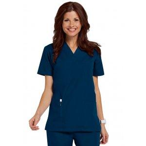 """Σετ Unisex Νοσηλευτικό Μπλουζάκι με Λαιμόκοψη """"V"""" και Παντελόνι (Scrub) - Μπλε Σκούρο"""