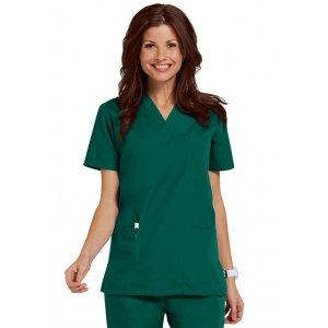 """Σετ Unisex Νοσηλευτικό Μπλουζάκι με Λαιμόκοψη """"V"""" και Παντελόνι (Scrub) - Πράσινο"""