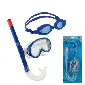 Σετ μάσκα με αναπνευστήρα και γυαλάκια 77295