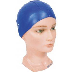 Σκουφάκι πισίνας απλό μονόχρωμο με κουκίδες, Μπλε