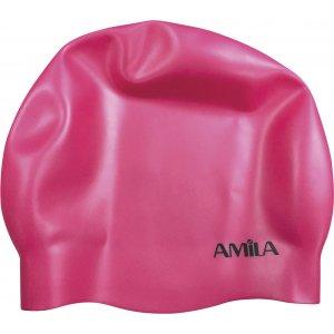 Σκουφάκια πισίνας (μεσαία μαλλιά) - Ροζ