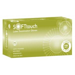 Εξεταστικά γάντια Soft Touch λευκό με πούδρα - 110.201