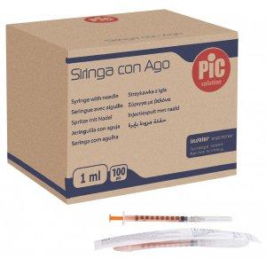Σύριγγες PIc 1cc G-27 0.40 x 12.7mm (100 τμχ) - 214.001.27