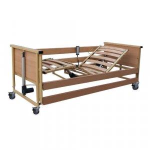Νοσοκομειακό Ηλεκτρικό Κρεβάτι Πολύσπαστο με Ξύλινο Σομιέ, πλαϊνά, αναρτήρα και ρόδες  Trento 2 - Σε 12 άτοκες δόσεις