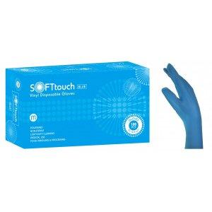 Εξεταστικά γάντια βινυλίου Soft Touch Μπλε με πούδρα - 110.064 - 1000 τεμάχια