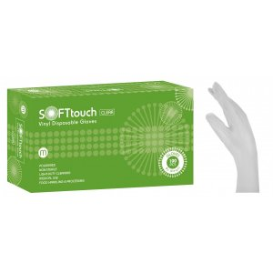 Εξεταστικά γάντια βινυλίου Soft Touch  Λευκό με πούδρα - 110.061